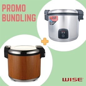 Jual [PROMO HEMAT] Bundling Rice Cooker + Rice Warmer WISE